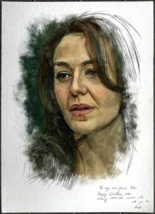 Rita Charbonnier ritratta dall'artista e musicista Paul Barton