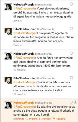Scambio su Twitter con Michela Murgia