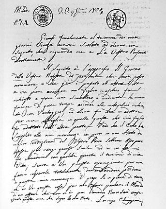 La lettera dell'autore del baratto di Modigliana