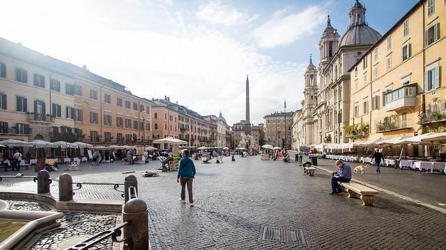Piazza Navona, non lontano da dove si trova la statua di Pasquino