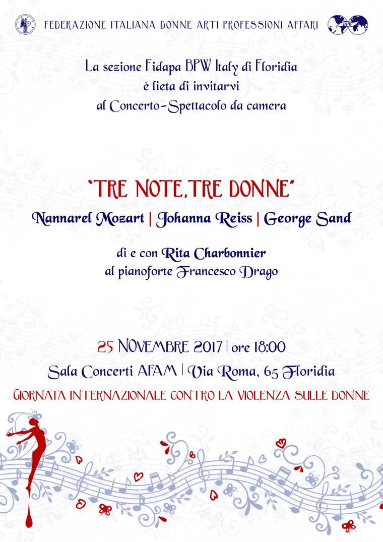 """""""Tre note, tre donne"""" a Floridia   La locandina"""