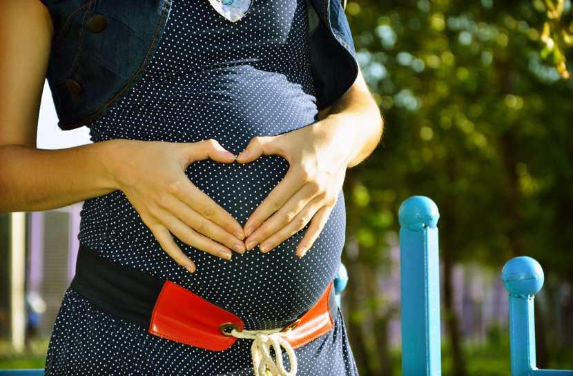 Utero in affitto: una donna incinta, dettaglio.